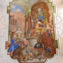 Bibliothek - Deckenmalerei