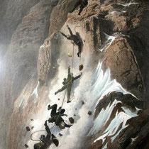 Motiv 15 - Absturz am Matterhorn - Erstbesteigung 1865