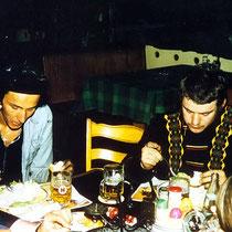 HP & Hugo beim Abendessen