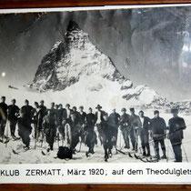 Motiv 4 - Skiclub Zermatt 1920