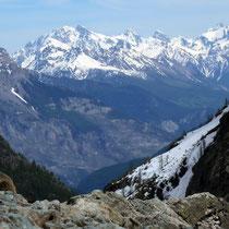 Pelvoux-Ècrins-Gruppe 4 - Blick vom Glacier Noire