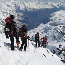Motiv 12 - Abstieg vom Gipfel des Grossglockner