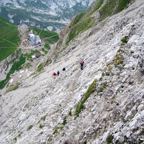 Tiefblick zum Rotsteinpass