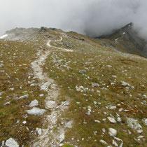 Abstieg - Gipfelflanke
