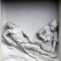 11. Station - Jesus wird an das Kreuz genagelt