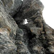 Felsöhr im Abstieg