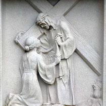 6. Station - Veronika reicht Jesus das Schweisstuch