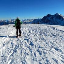 Ankunft am Gipfelplateau