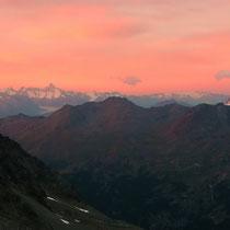Berner Alpen 8 - Blick von der Mischabelhütte