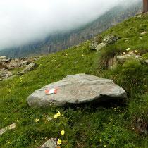 Abstieg auf Bergpfad