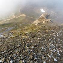 Abstieg am Gipfelgrat