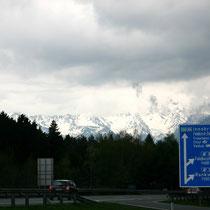 Regenwolken in den Ostalpen