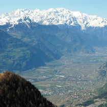 Rhonetal vor Mont Blanc