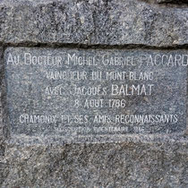 Motiv 5 - Gedenkstein - Jacques Balmat 1786