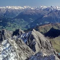 Ötztaler Alpen 4 - Blick vom Schesaplanagipfel