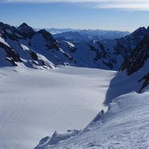 Pelvoux-Ècrins-Gruppe 5 - Blick vom Gipfel des Dôme de Neige des Écrins