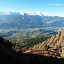Rhonetal vor Walliser Alpen