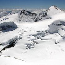 Bernina-Gruppe 4 - Blick vom Spallagrat