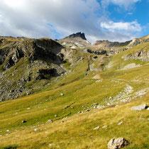 Aufstieg über Les Crêts