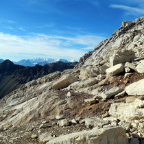 Erster Blick zur Bernina