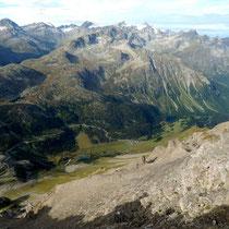 Gipfelblick - Albula-Passstrasse