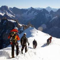Motiv 1 - Abstieg von der Aiguille du Midi