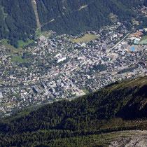Motiv 2 - Chamonix - Von der Aiguille du Midi