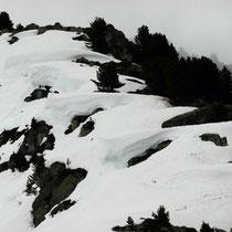 Wächten am Gipfelgrat