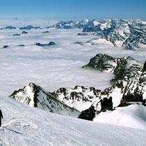 Motiv 16 - Abstieg vom Gipfel des Gran Paradiso