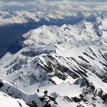 Hohe Tauern 4 - Blick vom Gipfel des Grossglockner
