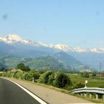 Berner Alpen 4 - Blick vom Rhonetal