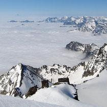 Cottische Alpen 1 - vorne La Tresenta, Ciarforon - am Horizont, Monviso 3841 M