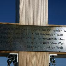Motiv 6 - Steghorn-Gipfelkreuz - Bergphilosophie