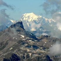 Becs de Bosson vor Mont Blanc
