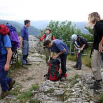 Gruppe vor dem Abstieg