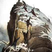 Motiv 16 - 'Gipfelsieg' am Matterhorn - Erstbesteigung 1865