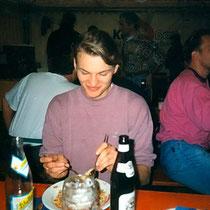 Wilfried mit Spaghetti