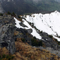 Gipfelgrat von oben