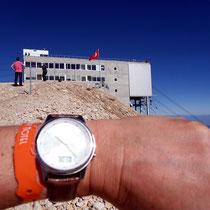 Früh vormittags am Gipfel