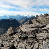 Steinmänner im Gipfelbereich