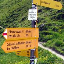 Am Col de la Marlène