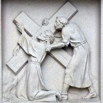 3. Station - Jesus erster Fall unter dem Kreuz