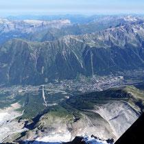 Motiv 1 - Chamonix - Von der Aiguille du Midi