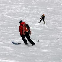 Abfahrende Bergsteiger