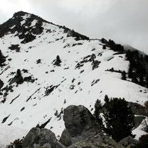 Gipfelgrat von unten