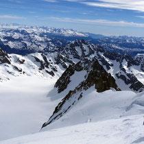 Pelvoux-Ècrins-Gruppe 1 - Blick auf den Glacier Blanc