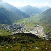 Abstieg nach Andermatt