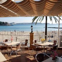 Motiv 1 - Blick aus einem Strandcafe