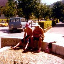 Vor dem Josefskrankenhaus - Freiburg 1975