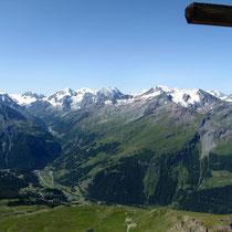Gipfelblick nach Les Haudères